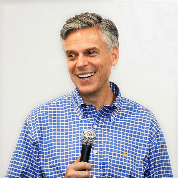 Raymond, New Hampshire: September 24, 2011<br /> Presidential candidate Jon Huntsman Jr. leads a town hall meeting at the Raymond Public Safety Building. &copy;Chris Fitzgerald / Candidate Photos