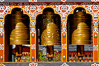Bhutan - prayer wheels