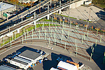 Aerial view of Seattle train tracks for SoundTransit