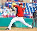 2 March 2011: Washington Nationals pitcher Atahualpa Severino on the mound during a Spring Training game against the Florida Marlins at Space Coast Stadium in Viera, Florida. The Nationals defeated the Marlins 8-4 in Grapefruit League action. Mandatory Credit: Ed Wolfstein Photo