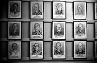 Auschwitz, former Nazi death camp, in Oswiecim, Poland's Nazi-era concentration camp..The photos of the victims of genocide at the concentration camp of Aushwitz.