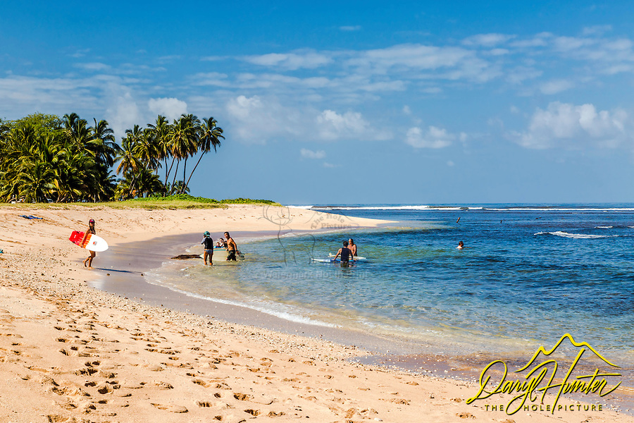 A beautiful day at Pakala Point Beach on the east shore of the island of Kauai in Hawaii.