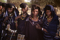Akadaney, Niger, Africa - Fulani Wodaabe Dancer at Geerewol, with Facial Scarification.