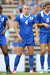 22 August 2014: Duke's Ashton Miller. The Duke University Blue Devils played The Ohio State University Buckeyes at Fetzer Field in Chapel Hill, NC in a 2014 NCAA Division I Women's Soccer match. Ohio State won the game 1-0.