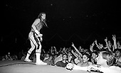 IRON MAIDEN - Bruce Dickinson - performing live on the World Slavery Tour at the Sporthall Aleja Politechniki in Lodz Poland - 10 August 1984.  Photo credit: George Bodnar Archive/IconicPix