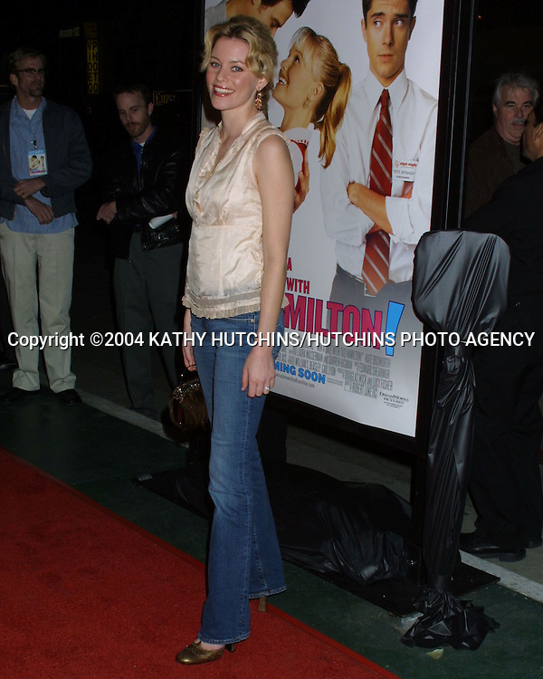 """© 2004 KATHY HUTCHINS/HUTCHINS PHOTO.""""WIN A DATE WITH TED HAMILTON"""" PREMIERE.WESTWOOD, CA.JANUARY 9, 2004..ELIZABETH BANKS"""