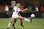 03 December 2010: Ohio State's Paige Maxwell (10) and Notre Dame's Jessica Schuveiller (behind). The Notre Dame Fighting Irish defeated the Ohio State University Buckeyes 1-0 at WakeMed Stadium in Cary, North Carolina in an NCAA Women's College Cup semifinal game.