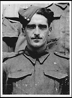BNPS.co.uk (01202 558833)<br /> Pic: AlanAustin/BNPS<br /> <br /> Private Lionel Brown.<br /> <br /> Three 'lost' British soldiers who were executed by the Nazis in a shocking war crime have been found 72 years later.<br /> <br /> The tragic trio - Private Lionel Brown, Pte Daniel Hollingsworth and Pte Thomas White - were murdered when they were being transported to a prisoner of war camp in Italy in 1944.<br /> <br /> The truck suddenly stopped by a bridge and the three prisoners and an Italian spy were shot by SS troops.<br /> <br /> They were later buried at the Ancona Military Cemetery in unmarked graves. Research has now identified the men's final resting place.