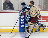 Abbey Cook (Maine - 26), Dana Trivigno (BC - 8) - The Boston College Eagles defeated the visiting University of Maine Black Bears 5 to 1 on Sunday, October 6, 2013, in their Hockey East season opener at Kelley Rink in Conte Forum in Chestnut Hill, Massachusetts.