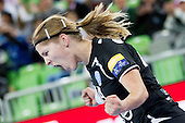 Maja Zrnec of Krim during handball match between RK Krim Mercator and Gyori Audi ETO KC (HUN) in 3rd Round of Group B of EHF Women's Champions League 2012/13 on October 28, 2012 in Arena Stozice, Ljubljana, Slovenia. (Photo By Vid Ponikvar / Sportida)
