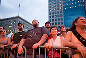 Fans captivated by the Avett Brothers in downtown Pittsburgh, PA, Saturday, June 21, 2008.