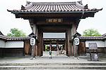 Photo shows the entrance to Nishinkan in Aizuwakamatsu City, Fukushima Prefecture, Japan. Nishinkan was a school for the sons of the region's samurai. Photographer: Rob Gilhooly