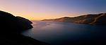 Sunrise at the entrance to Lyttelton Harbour. Canterbury Region. New Zealand.