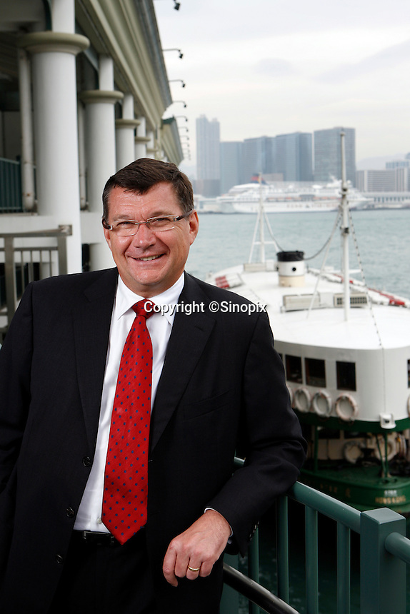 HONG KONG, CHINA-NOVEMBER 08: John Harrison pictured in Central Ferry Pier, Hong Kong.