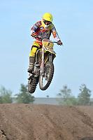 MOTORCROSS: JOURE: 25-08-2013, Circuit Polderbosk, Rolf Booi (#1) uit Langweer van de Booi Brothers, ©foto Martin de Jong