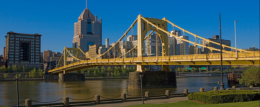Pittsburgh Bridges - Clemente Bridge from North Shore