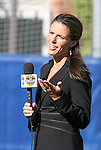 12 July 2009: Fox Soccer Channel color commentator Jenn Hildreth. Sky Blue FC defeated the Boston Breakers 2-1 at Harvard Stadium in Cambridge, Massachusetts in a regular season Women's Professional Soccer game.