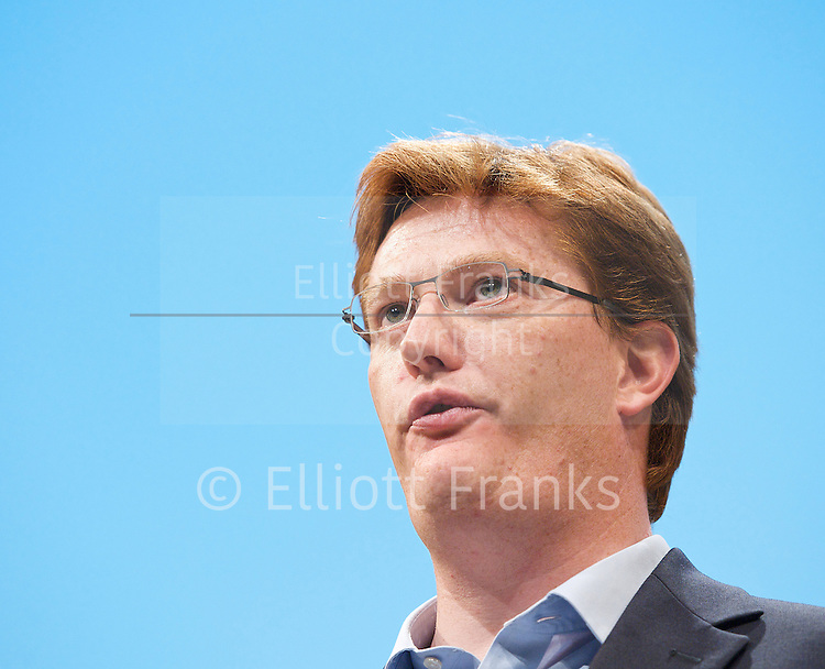 The Liberal Democrats Annual Autumn Conference 2012 at The Brighton Centre, Brighton, East Sussex, Great Britain <br /> 22nd to 26th September 2012 <br /> <br /> <br /> Danny Alexander MP &ndash; Chief Secretary to the Treasury<br /> <br /> <br /> Photograph by Elliott Franks