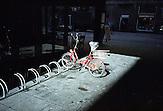 Bike at the cinema ?Europa? in Varsavska street.