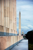 Washington Monument from the Lincoln Memorial Washington DC