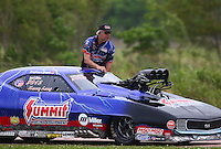 Apr 29, 2016; Baytown, TX, USA; NHRA pro mod driver Kenny Lang during qualifying for the Spring Nationals at Royal Purple Raceway. Mandatory Credit: Mark J. Rebilas-USA TODAY Sports