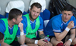 FC Luzern v St Johnstone...17.07.14  Europa League 2nd Round Qualifier<br /> Only a place on the bench for Stevie May<br /> Picture by Graeme Hart.<br /> Copyright Perthshire Picture Agency<br /> Tel: 01738 623350  Mobile: 07990 594431