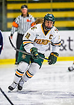 2 February 2013: University of Vermont Catamount forward and team co-captain Erin Wente, a Senior from Scottsdale, AZ, in action against the University of New Hampshire Wildcats at Gutterson Fieldhouse in Burlington, Vermont. The Lady Wildcats defeated the Lady Catamounts 4-2 in Hockey East play. Mandatory Credit: Ed Wolfstein Photo