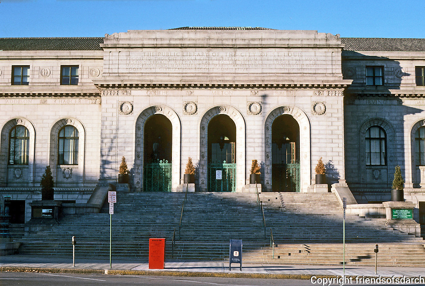 St. Louis: Central Public Library, 1912. Cass Gilbert, Architect. Photo '77.