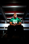 April 6, 2012; East Rutherford, NJ, USA; New York Giants offensive lineman Kevin Boothe poses for a portrait for TruGreen. Mandatory Credit: Brian Schneider-www.ebrianschneider.com