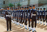 Indian Air Force in military parade at Rashtrapati Bhavan, Presidential House, in New Delhi, India