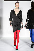 Anastasia walks runway in a bebeBlack Fall 2011 outfit, at the Style 360 Fall 2011 fashion show, during New York Fashion Week.