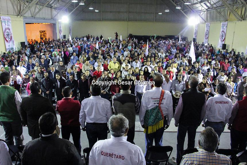 El Marqués. Querétaro. 23 de noviembre de 2016.- Toma de protesta del Comité Central Ejecutivo de la CNC; a la que acudió el Senador Manuel H. Cota Jimenez, presidente de la CNC.