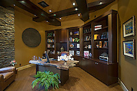 Large home office is seen in luxury home