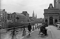 View of Cork City.  Looking over the Lee from the Mall, in the backgound is St. Finbars Church..26.05.1962
