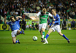 Hibs v St Johnstone...28.09.11   SPL Week.Garry O'Connor scores his first goal.Picture by Graeme Hart..Copyright Perthshire Picture Agency.Tel: 01738 623350  Mobile: 07990 594431