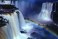 Iguazu falls, on the Argentina-Brazil border
