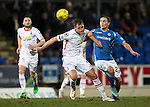 St Johnstone v Inverness Caley Thistle&hellip;09.03.16  SPFL McDiarmid Park, Perth<br />Gary Warren fends off Chris Kane<br />Picture by Graeme Hart.<br />Copyright Perthshire Picture Agency<br />Tel: 01738 623350  Mobile: 07990 594431