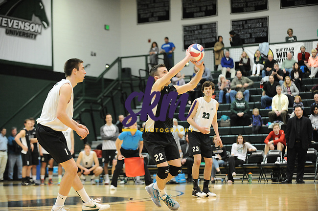 Stevenson men's volleyball advances to the CVC Championship game as they defeated Juanita 3-0 with set scores of (13-25), (13-25) and (24-26).