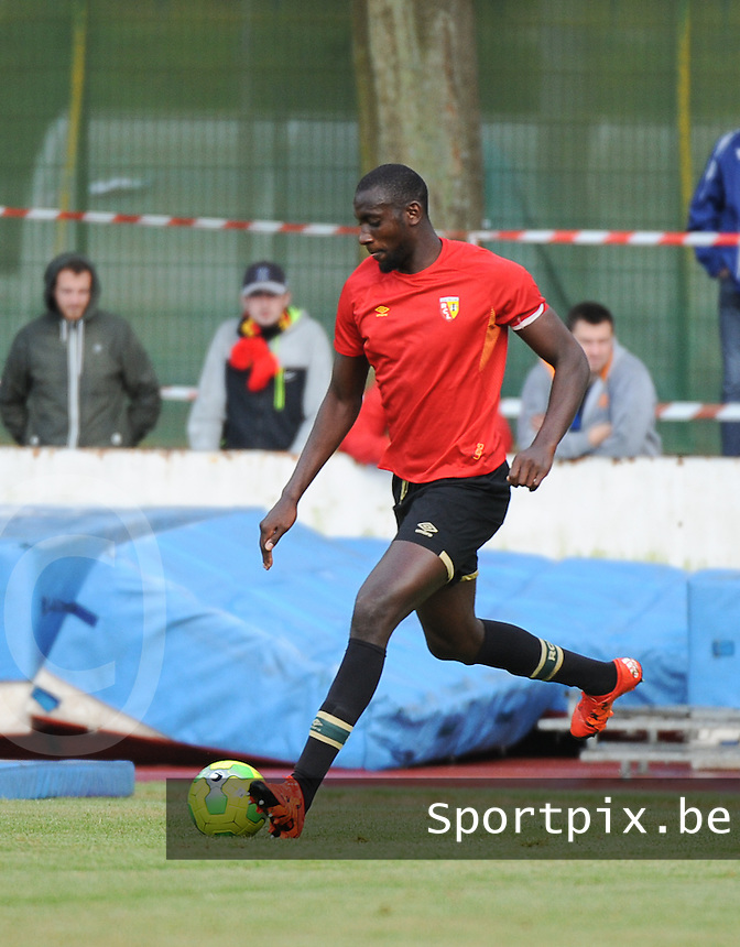 20160713 - DOUAI , FRANCE : RC Lens' Abdoul Ba pictured during a friendly game between Racing Club de LENS and Waasland Beveren during the preparations for the 2016-2017 season , Wednesday 13 July 2016 ,  PHOTO Dirk Vuylsteke | Sportpix.Be
