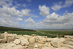 Israel, Jezreel valley. Tel Megiddo, a World Heritage Site