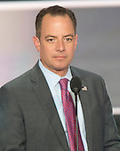 Reince Priebus, chairperson of the Republican National Committee, rehearses from the podium of the 2016 Republican National Convention in the Quicken Loans Arena in Cleveland, Ohio on Sunday, July 17, 2016.<br /> Credit: Ron Sachs / CNP<br /> (RESTRICTION: NO New York or New Jersey Newspapers or newspapers within a 75 mile radius of New York City)