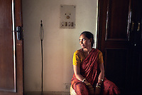 Rajrani, the maid, at home.