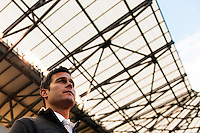 New York Red Bulls head coach Mike Petke prior to playing the Chicago Fire .The New York Red Bulls defeated the Chicago Fire 5-2 during a Major League Soccer (MLS) match at Red Bull Arena in Harrison, NJ, on October 27, 2013.