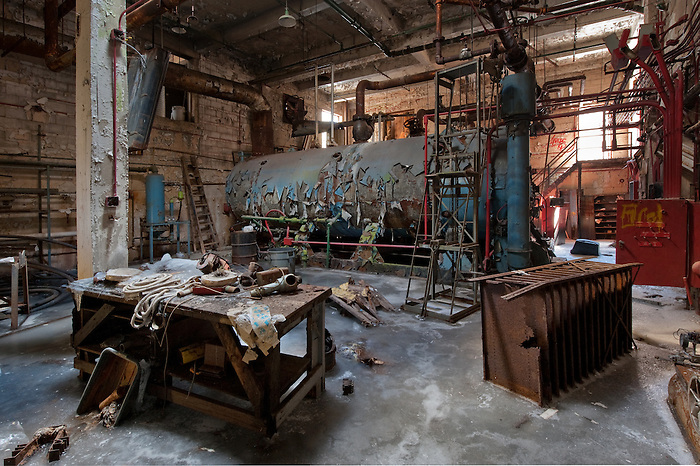 The Boiler room and Power Plant for an Abandoned Hotel