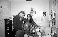 With Farah Rahman in my office at The Meade County Times in Sturgis, South Dakota, site of my first job after college.