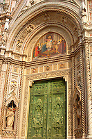 The Dome Catheral - main entrance -  Florence Italy