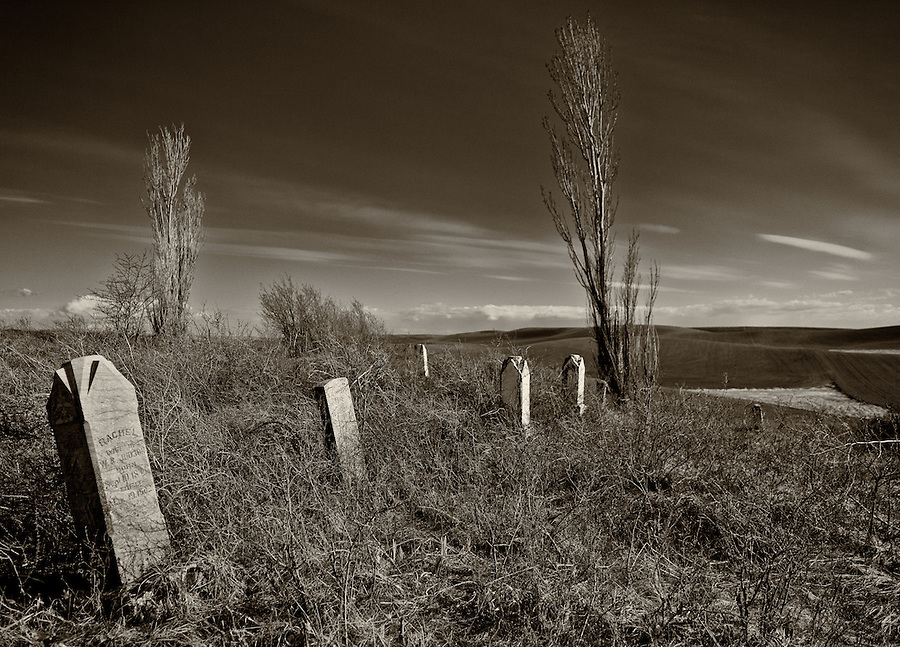 This graveyard in a remote part of the Palouse in Eastern Washington contains graves from the late nineteenth century.
