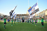 A general view of the Bath Rugby guard of honour. European Rugby Challenge Cup match, between Bath Rugby and Pau (Section Paloise) on January 21, 2017 at the Recreation Ground in Bath, England. Photo by: Patrick Khachfe / Onside Images