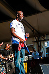 Wyclef Jean performs at the New Orleans Jazz and Heritage Festival in New Orleans, Louisiana, April 29, 2011.
