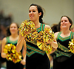 5 December 2009: The UVM Dance Team entertains the fans at a game between the University of Vermont Catamounts and the Manhattan College Jaspers at Patrick Gymnasium in Burlington, Vermont. The Catamounts defeated the visiting Jaspers 78-59 to mark the Lady Cats' second home win of the season. Mandatory Credit: Ed Wolfstein Photo